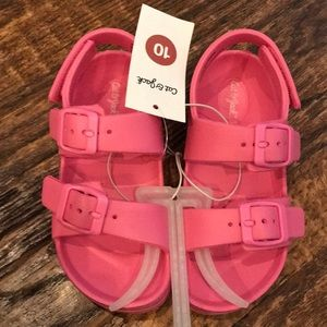 Pink toddler sandals, NWT!